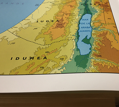 Mapa a color del antiguo Israel